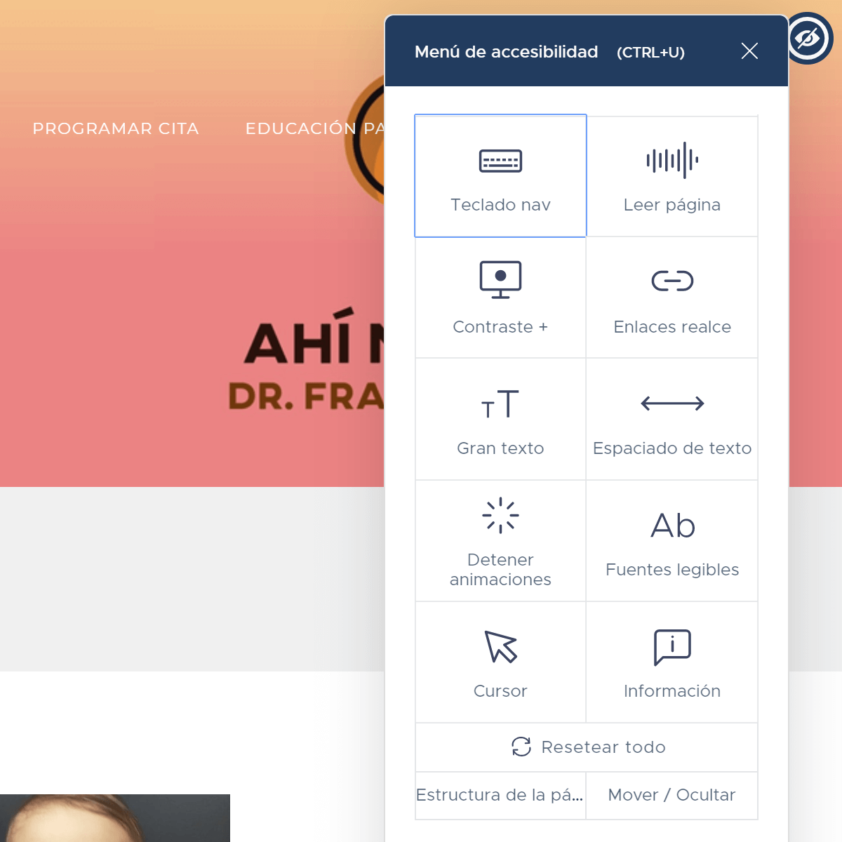 Andes Dev Development Wordpress websites Dr Francisco Dacarett